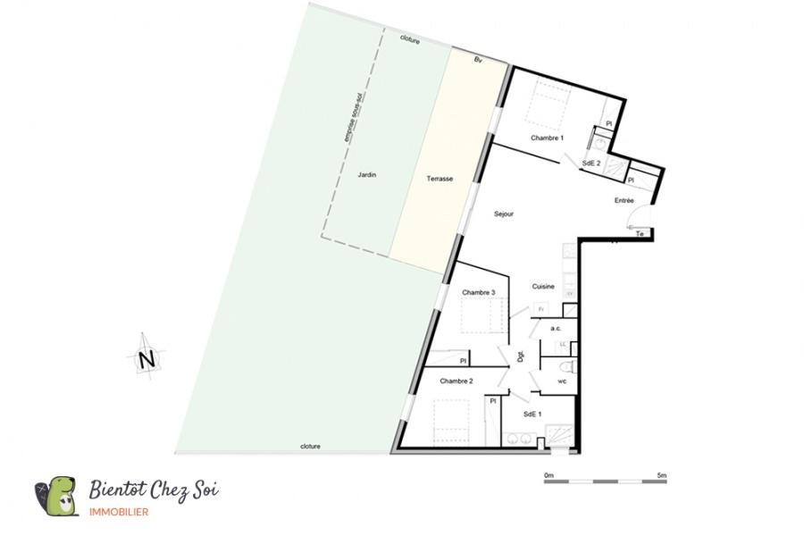 Bordeaux, 3 Chambres Chambres, 4 Chambres Chambres,2 Salle de bainSalle de bain,Appartement,A vendre,1001